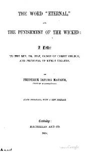 1854 maurice the word eternal and punishment