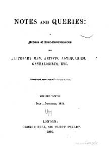 1854 notes and queries 10