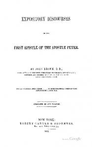 1855 brown discourses on first peter
