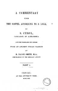 1859 cyril smith commentary upon luke 01