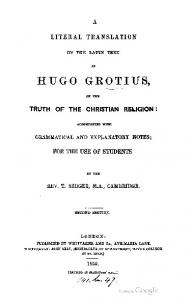 1859 grotius literal translation of the latin text