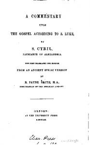 1859 smith cyril commentary upon luke