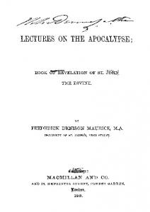 1861 maurice lectures apocalypse