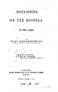 1862 roberts discussions on the gospels