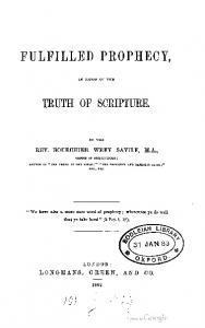 1863 goode fulfilled prophecy proof of the truth