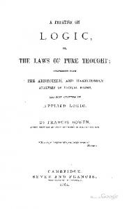 1864 bowen treatise on logic