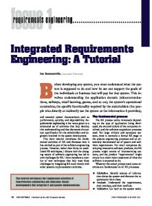 2005 Sommerville IEEE Software Integrated Requirements Engineering A Tutorial