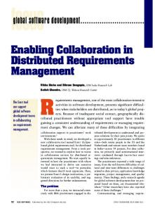 2006 Sinha IEEE Software Enabling Collaboration in Distributed Requirements Management