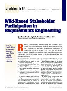 2007 Decker IEEE Software Wiki Based Stakeholder Participation in Requirements Engineering