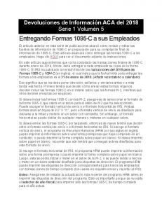 2018 ACA Information Returns Series 1 Vol 5 Blog Spanish