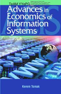 advances in economics of information systems