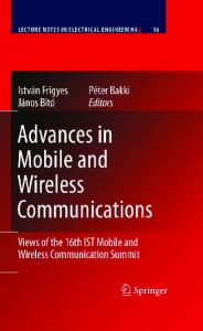 advances in mobile and wireless communications
