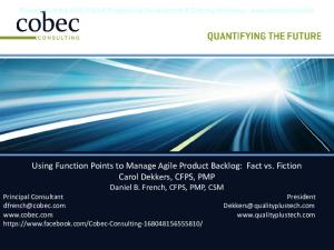 AG03 Using Function Points to Manage Agile French