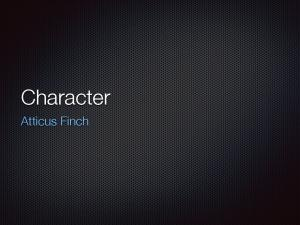 Atticus   Character Sketch Slides