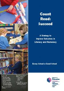 count read succeed a strategy to improve outcomes in literacy and numeracy