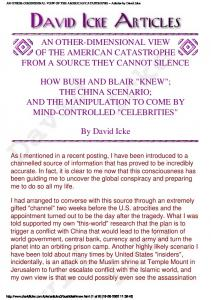David Icke   An Other Dimensional View of the American Catastrophe