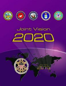 department of defense   joint vision 2020