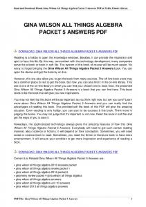 gina wilson all things algebra packet 5 answers
