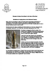 Guidelines for Logging Items at Cathedral Treasury