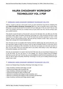 hajra choudhary workshop technology vol 2