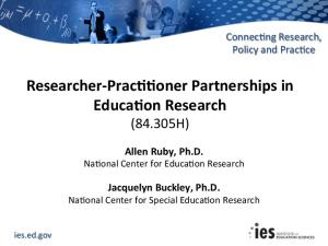IES researcher practitioner FY2017
