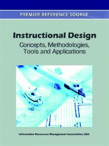 instructional design concept, methodologies, tools and application