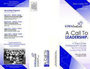 Leadership Brochure 2014