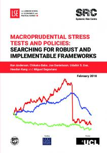 Macroprudential Stress Tests and Policies Stretching for Robust and Implementable Frameworks (2018)