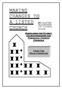 Making Changes to a Listed Church
