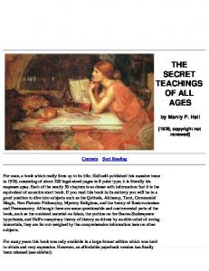 Manly P Hall The Secret Teachings of All Ages1
