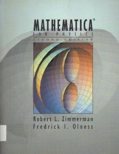Mathematica for Physics 2nd ed   R