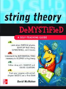 McMahon   String Theory Demystified (McGraw, 2008)