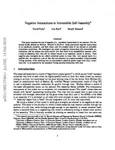 Negative interactions in irreversible self assembly