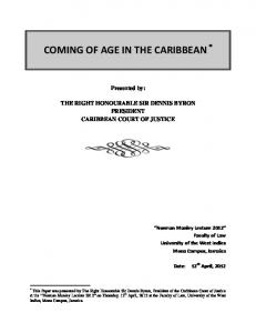 Norman Manley Lecture   Coming of Age in the Caribbean