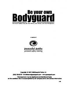 Peaceful Paths LLC   Be Your Own Bodyguard