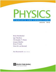 Physics   Concepts and Connections [textbook] (Irwin, 2002)