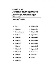 [Project Management Institute] A Guide to the Proj(BookFi