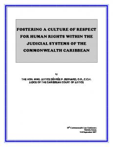 Respect for Human Rights