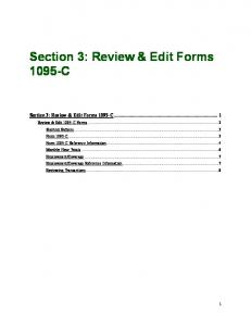 Section 3   Reviewing Editing Transactions