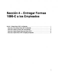 Section 4   How To Furnishing 1095'c to employees (Spanish)