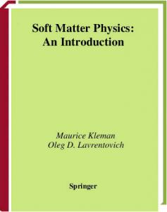 Soft Matter Physics   An Introduction   M