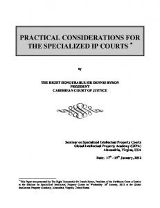 Speech   Seminar on Specialized Intellectual Property Courts