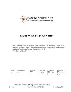 Student Code of Conduct draft v2 0 2014
