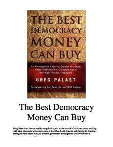 The Best Democracy Money Can Buy   By Greg Palast