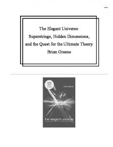 The Elegant Universe   Brian Green
