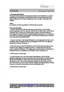 the meat of the future ters worksheet