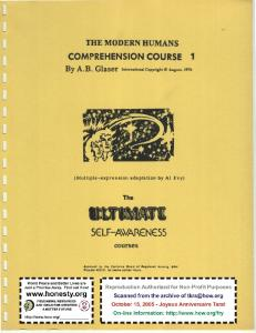 The Modern Humans Comprehension Courses1 by Alfred B