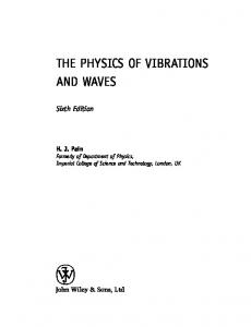 The Physics of Vibrations and Waves 6th ed   A