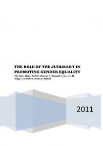 THE ROLE OF THE JUDICIARY IN PROMOTING GENDER EQUALITY