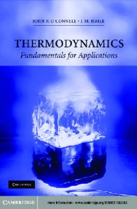 Thermodynamics   Fundamentals for Applications   J